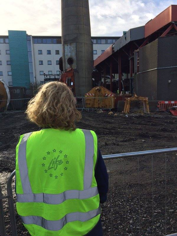 High viz on as construction begins at the Boiler House site.