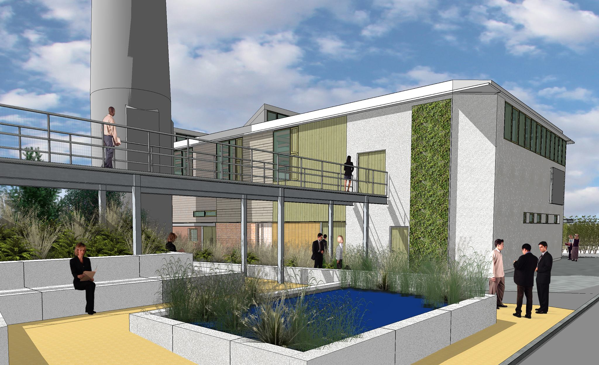 Artist's impression of the final building by ABK Architects.