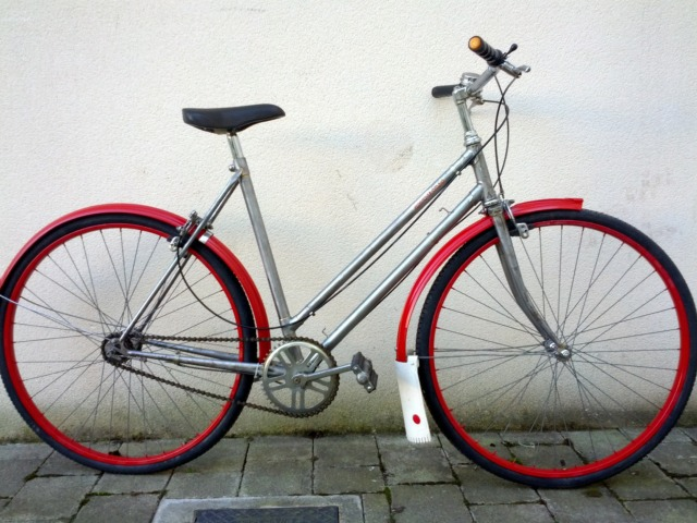 Upcycled bike by Rediscovery Cycling - a WISER LIFE eco-cluster enterprise.